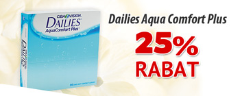 25% rabat på Dailies AquaComfort Plus!