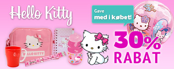Hello Kitty 30% rabat + f gave med i kbet!