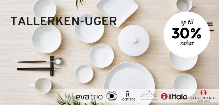 Få op til 30% rabat, tallerkenuger fra Rörstrand, Arabia, Iittala og Rosendahl!