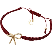 chichi-golden-bow-bracelet-burgundy