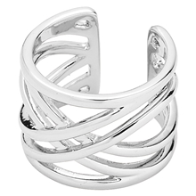 Spring Ring Silver Plated