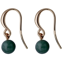 Rose Gold & Green Earrings