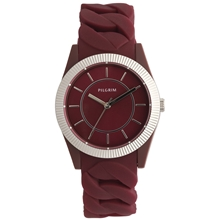 Deep Red Silicon Watch