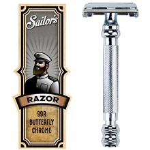 Safety Razor Butterfly Chrome Finish 99R