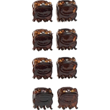 01048 Brown Mini Hair Claw Set