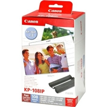 "Canon KP-108IN paper 4x6"" 3x36 sheets + colorcartouche  3115B001"