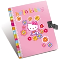 Hello Kitty Flower Dagbog med Lås