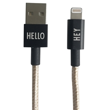 Design Letters Lightning Cable 1 Meter Gold