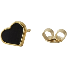 Design Letters Earring Stud Enamel Heart Gold