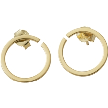 Design Letters Earring Hoops 16 mm Gold