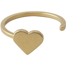 Design Letters Heart Ring Gold