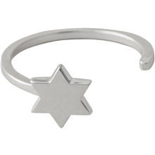 Design Letters Star Ring Silver