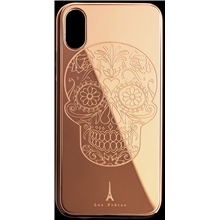 Les Fréres Rosé Skull iPhone Case