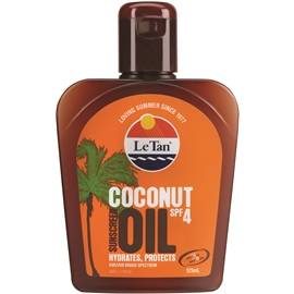 Le Tan Coconut Oil SPF 4