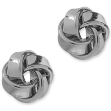 96324-02 PEARLS FOR GIRLS Mini Knot Silver Earring