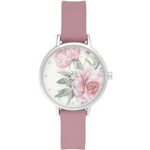 Clare Silver Plated Rose Watch