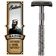Safety Razor Butterfly Gun Metal Finish