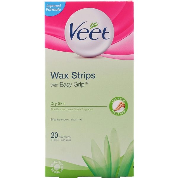Veet Ready To Use Wax Strips - Dry Skin