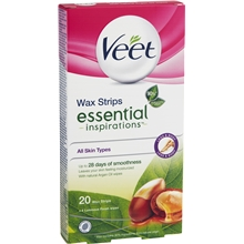Veet Legs & Body Wax Strips Essential Inspirations