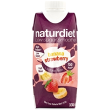330 ml - Banana-Strawberry - Naturdiet Free Shake No Lactose