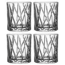 City Whiskyglas OF Pakke med 4 stk.