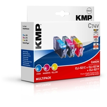 KMP C74V - CLI-521C/M/Y Value Pack  1510.0005