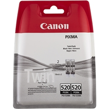 Canon PGI-520BK Twin Pack 2932B012