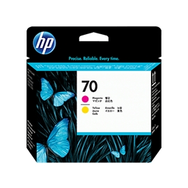 HP 70 Printhead Magenta + Yellow