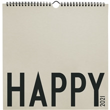 Design Letters Wall Calendar 2021 Cool Grey