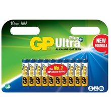 GP Batteries Ultra Plus AAA, Pakke med 10 stk.