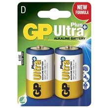 GP Batteries Ultra Plus, LR20, Pakke med 2 stk.