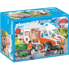70049 Playmobil Ambulance med Blinklys