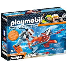 70004 Playmobil Spy Team Subwing