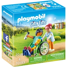 70193 Playmobil Patient i Rullestol
