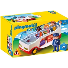 6773 Playmobil 1.2.3 Airport Shuttle Bus