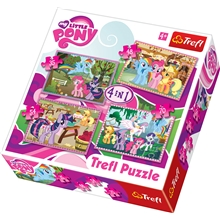 Puslespil 4-i-1 - My Little Pony Ponies Holiday
